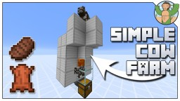 Simple Cow Farm for Minecraft 1.14 Minecraft Map & Project