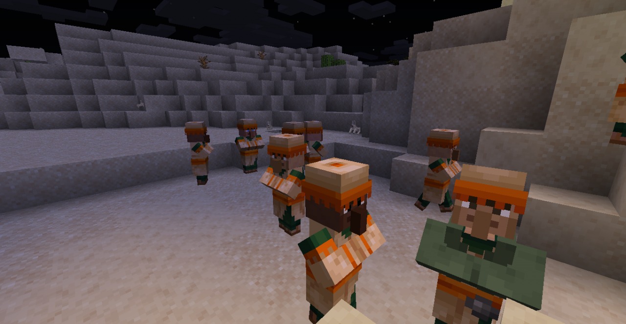 Raced Villagers Minecraft Texture Pack