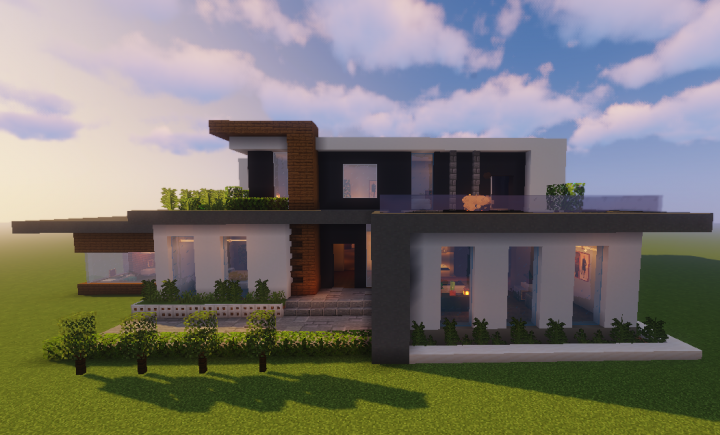 Modern House Azure 1 14 Minecraft Map