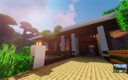 "Tropical Modern House | ""Lani"" (1.14+) Minecraft Map & Project"