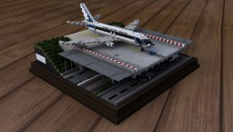 Dassault Mercure 100 crossing N7 highway at Orly Airport - Minecraft Map & Project