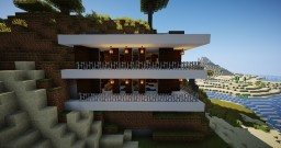 1.14.2 Modern Mountain Side Home Renovated & Furnished Minecraft Map & Project