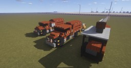 1.5:1 scale  Asplundh 3 truck set. Mack DM and International Tree Trimming vehicles Minecraft Map & Project
