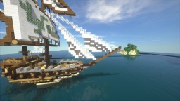 sailing ship with island Minecraft Map & Project