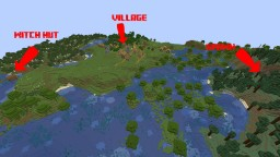 Awesome 1.14 seed- Village and Witch Hut at spawn Minecraft Map & Project