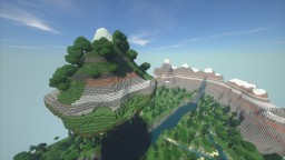Flying island and mountains Minecraft Map & Project