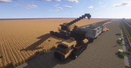 1.5:1 Scale  Caterpillar lexion combine harvester and Cat Challenger tractor Minecraft Map & Project