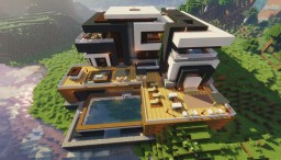 Maden Mansion (1.14 Vanilla modern house) Minecraft Map & Project