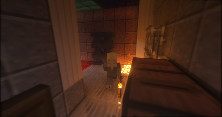 player walking in reflecis room