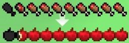 Apple Hunger Bar Minecraft Texture Pack