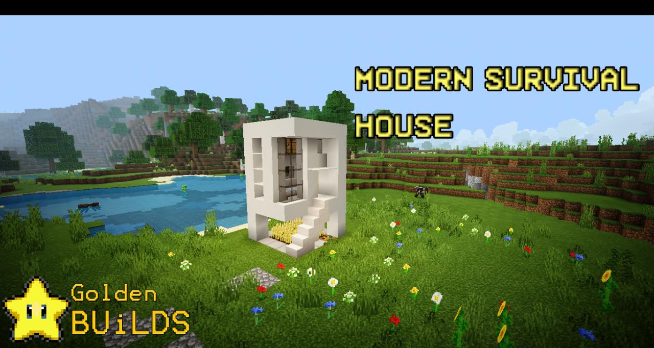 Modern Survival House Goldenbuilds Minecraft Project