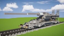 Schwerer Gustav Railway Gun (1.5:1) Minecraft Map & Project