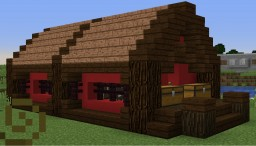 Red Barn with Cow Cooker Minecraft Map & Project