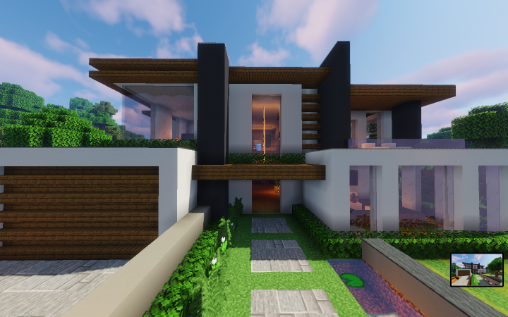 Modern House Ayera 1 14 Minecraft Map