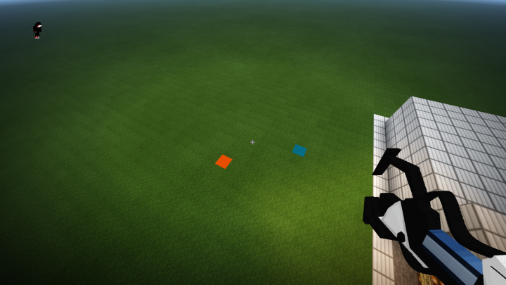 Portal Gun can place portals anywhere on the ground where there is grass