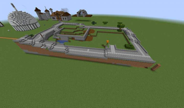 Built to fit the town square plot was moved to the Library server for construction...