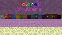 Colored Shulkers Minecraft Texture Pack