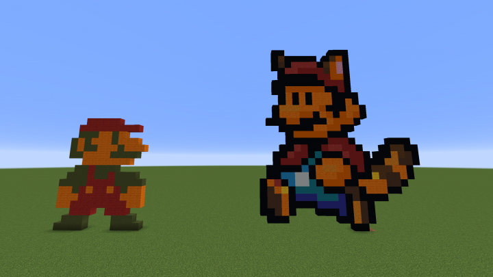 Mario Pixel Arts Minecraft Project