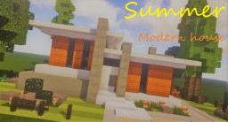 Summer Time ! Modern House Minecraft Map & Project
