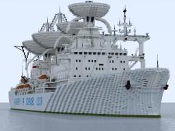 "Soviet vessel / Научное судно ""Космонавт Юрий Гагарин"" version 2 Minecraft Map & Project"