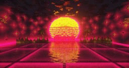 Vaporwave sunset - NationsGlory Minecraft Map & Project
