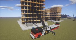 2:1 Scale   Pierce Aerial Tiller Fire Truck - Anchorage, AK FD (2 truck download) Minecraft Map & Project