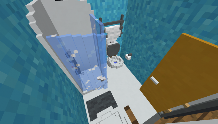 A nearly Quake pro shot of the bathroom it is just too small to make regular screenshots