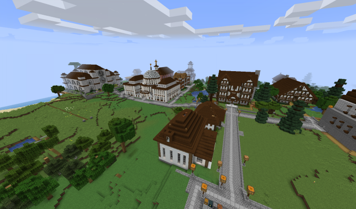 view of the emerging new downtown area... Lots of tree harvesting...