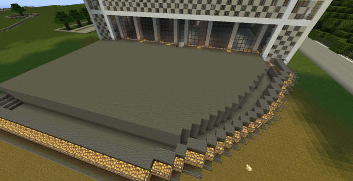 Optifine makes the glass look weird. There is glass over the walkway.