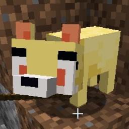 Fennekin replaces the fox Minecraft Texture Pack