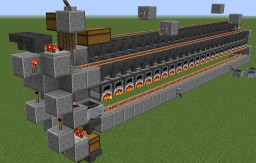 Three Wide, Double Sided 48 Furnace Array Minecraft Map & Project