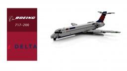 Delta Boeing 717-200 Minecraft Map & Project