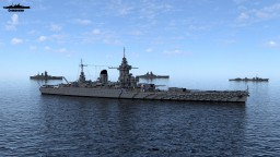 Battleship Strasbourg 1:1 Scale (Dunkerque class) Minecraft Map & Project