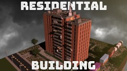Residential Building Block (worn down, with construction site) Minecraft Map & Project