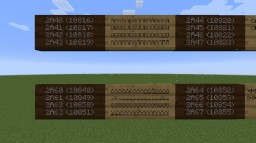 Unicode Wall Sign Reference Datapack Java 1.14.3 Minecraft Map & Project