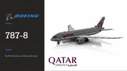 Qatar 787-8 1.5:1 Minecraft Map & Project