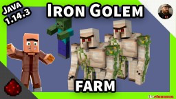 Iron Farm 1.14.3 and 1.14.4 versions Minecraft Map & Project