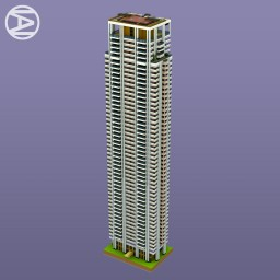 Fifty storey residential tower: Le Parc Palermo Minecraft Map & Project