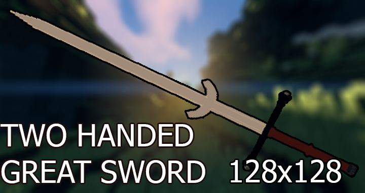 Two Handed Great Sword 3D Model/Files Minecraft Texture Pack