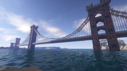 Large suspended stone bridge Minecraft Map & Project