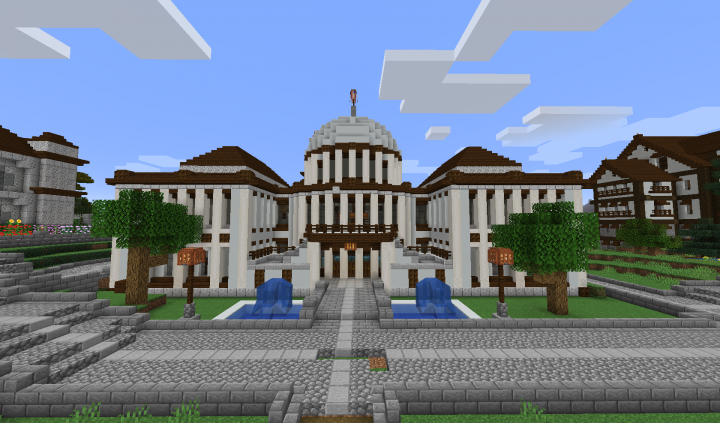 New Capitol Building as installed in Turtle Bay town square...