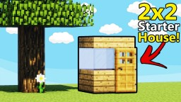 How To Build A 2x2 Starter House Minecraft Map & Project