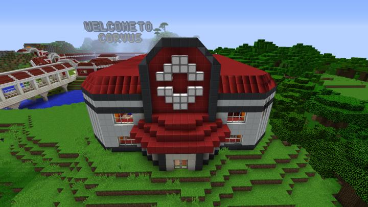 Pixelmon Corvus: Yoake City PokeCenter Minecraft Project
