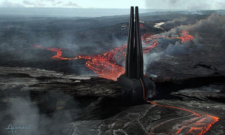 Vader's Castle concept art