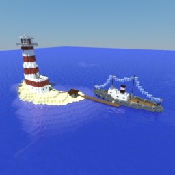 lighthouse & supply ship Minecraft Map & Project
