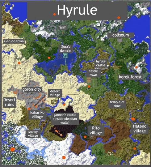 The Legend of Zelda botw inspired map (V1.1 update ...