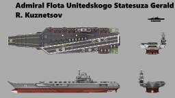 Gerald R. Kuznetsov-Class Aircraft Carrier Minecraft Map & Project