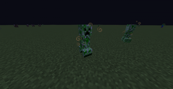 Buffed Creeper now silent with a quicker fuse.. also explodes a cloud of bad luck..