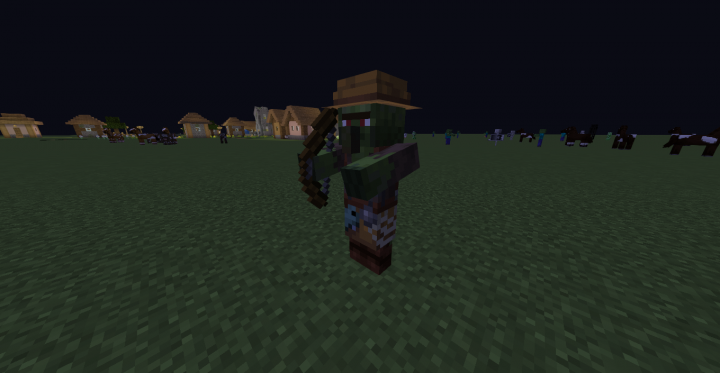 Zombie Villagers now have bows..