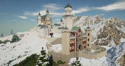 Neuschwanstein Castle Minecraft Map & Project